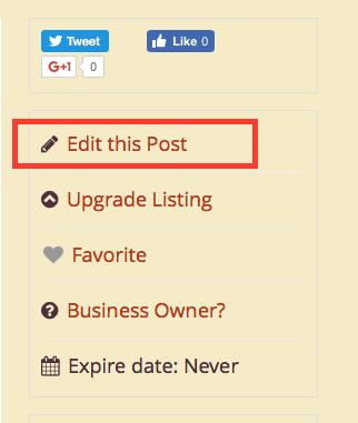 edit listing threefold directory